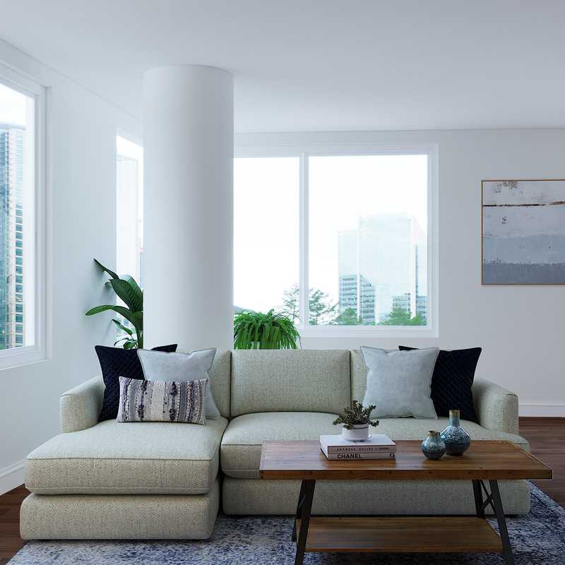 Modern Living Room Design by Havenly Interior Designer Alexandra
