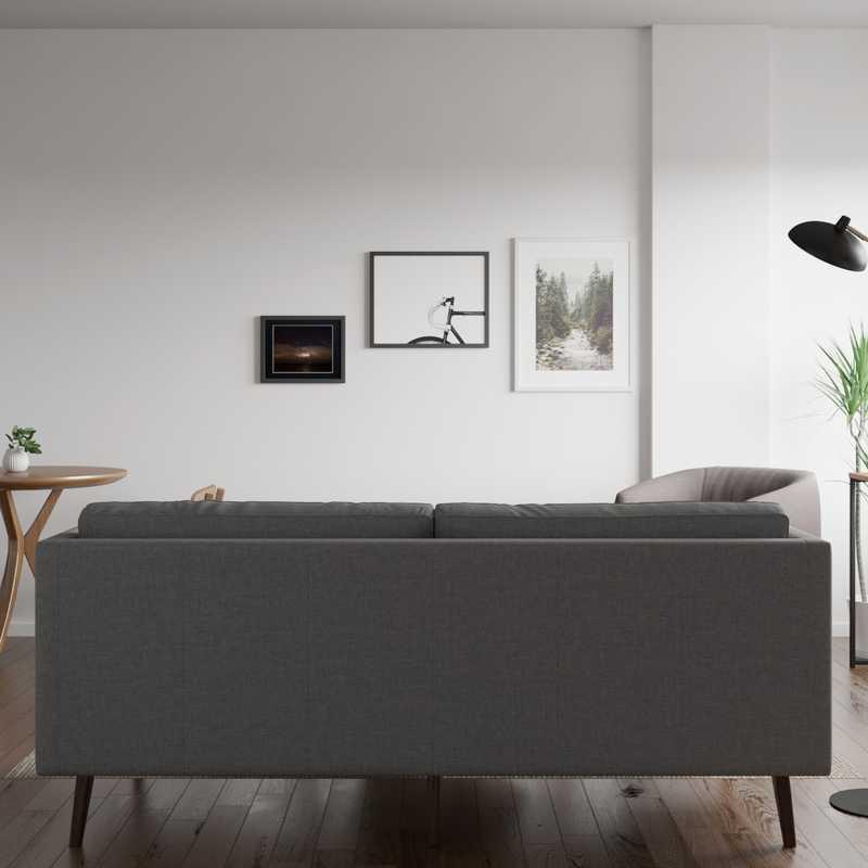 Modern, Minimal, Scandinavian Living Room Design by Havenly Interior Designer Amanda