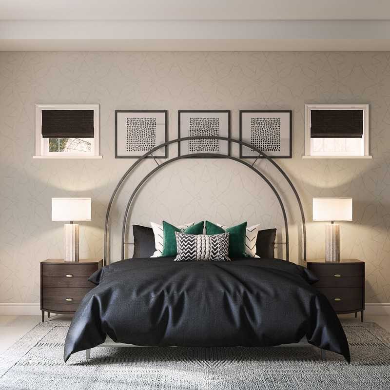 Modern, Eclectic, Glam, Global Bedroom Design by Havenly Interior Designer Cristina