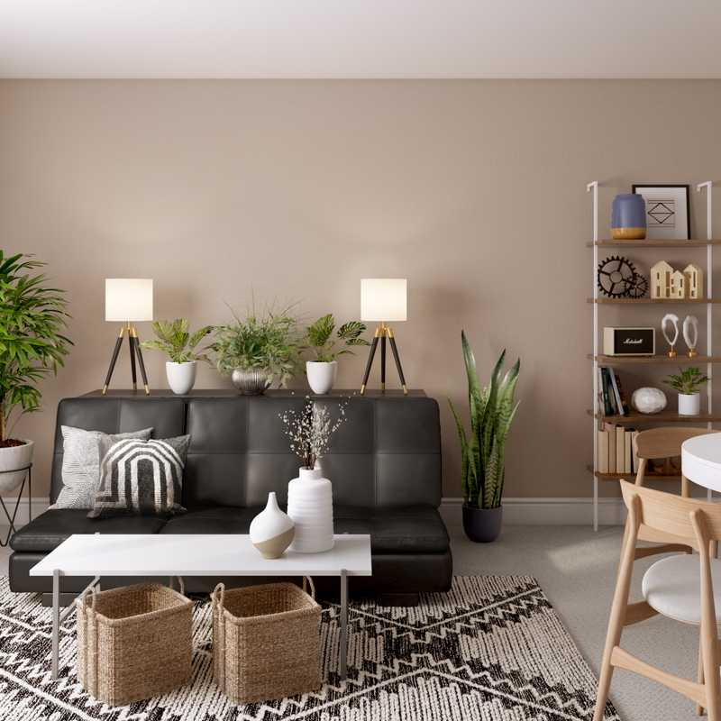Industrial Living Room Design by Havenly Interior Designer Megan