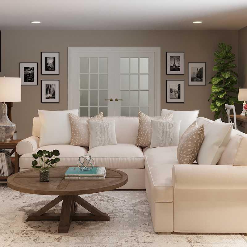 Farmhouse, Rustic Living Room Design by Havenly Interior Designer Maria