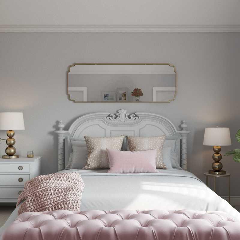 Classic, Glam Bedroom Design by Havenly Interior Designer Emily