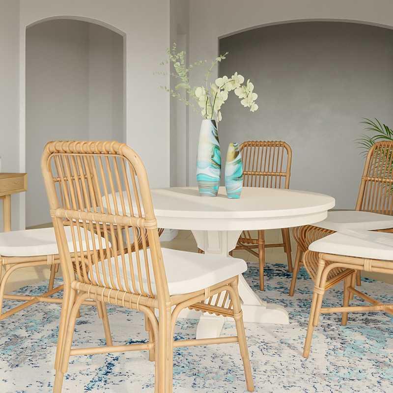 Contemporary, Bohemian, Coastal Dining Room Design by Havenly Interior Designer Paige