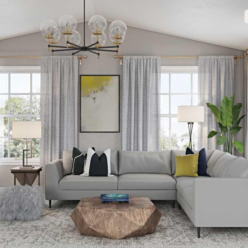 Modern Living Room Design by Havenly Interior Designer Allison