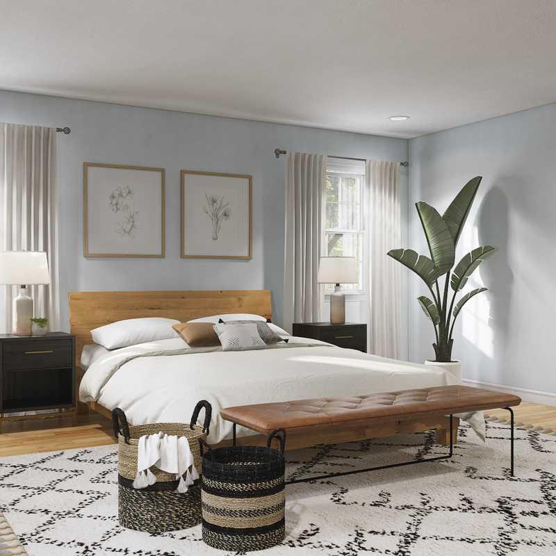 Eclectic, Bohemian, Global, Southwest Inspired, Midcentury Modern Bedroom Design by Havenly Interior Designer Brit