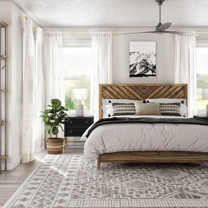 Modern, Rustic Bedroom Design by Havenly Interior Designer Whitney