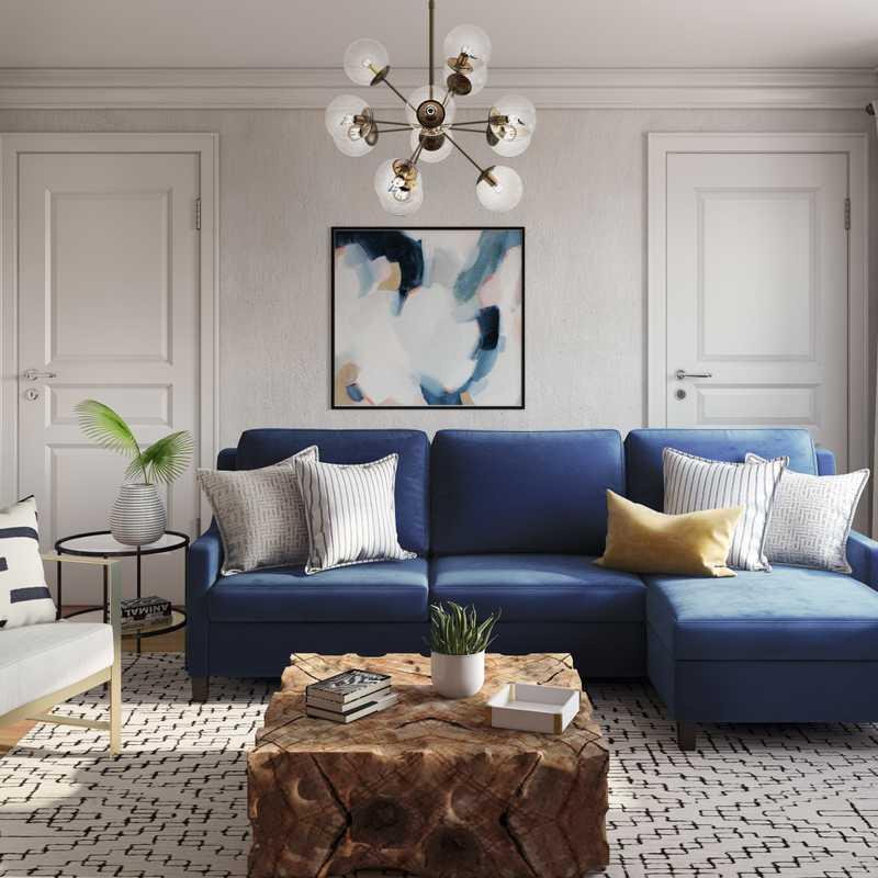 Contemporary, Classic, Glam Living Room Design by Havenly Interior Designer Amanda