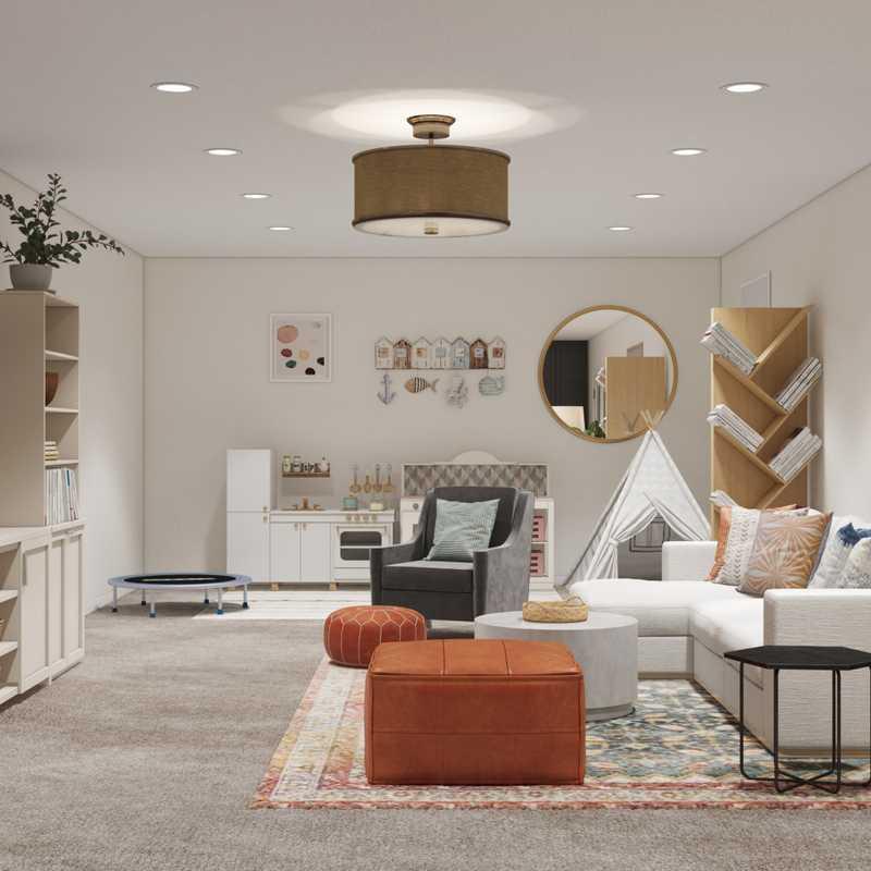 Bohemian, Coastal, Farmhouse, Preppy Other Design by Havenly Interior Designer Samantha