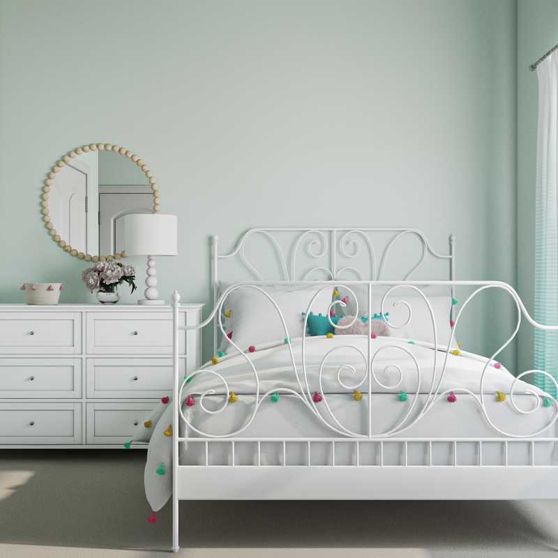 Eclectic, Bohemian, Glam, Preppy Bedroom Design by Havenly Interior Designer Jeanne