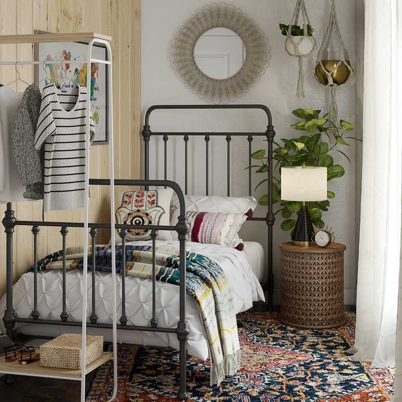 Eclectic, Global Bedroom Design by Havenly Interior Designer Cathrine