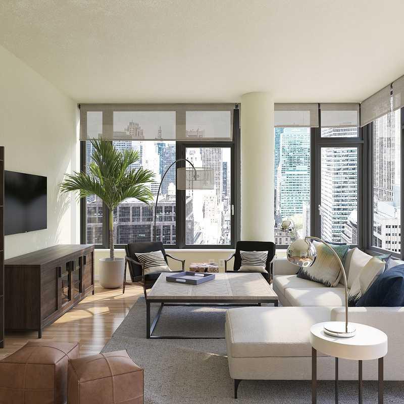 Modern, Industrial Living Room Design by Havenly Interior Designer Cathrine