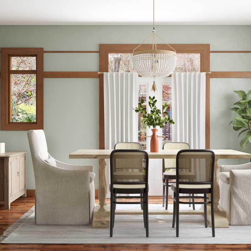 Contemporary, Rustic, Classic Contemporary Dining Room Design by Havenly Interior Designer Sarah
