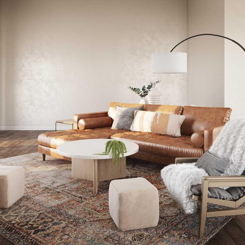 Contemporary, Bohemian, Scandinavian Living Room Design by Havenly Interior Designer Robyn