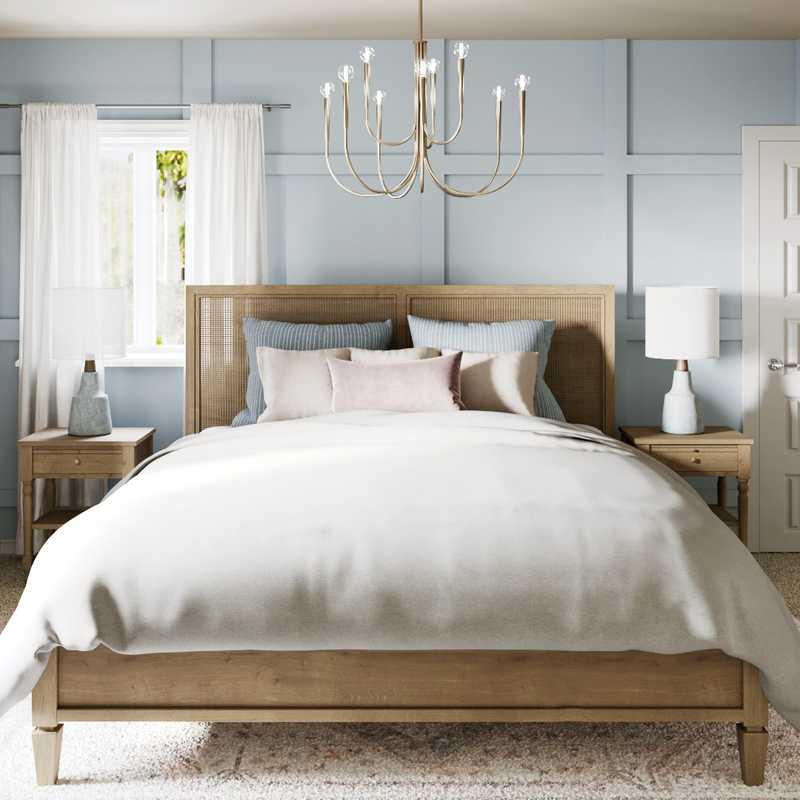 Coastal, Farmhouse Bedroom Design by Havenly Interior Designer Legacy