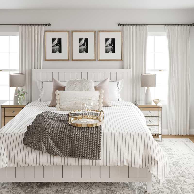 Farmhouse Bedroom Design by Havenly Interior Designer Kamila