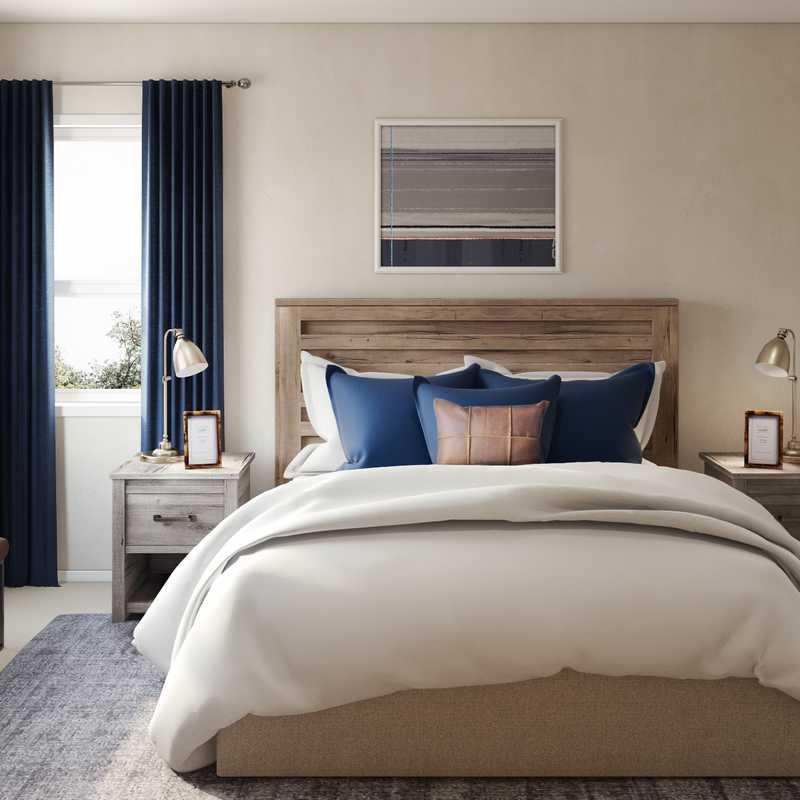 Industrial Bedroom Design by Havenly Interior Designer Shannon