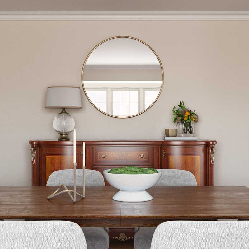 Eclectic, Bohemian, Midcentury Modern Dining Room Design by Havenly Interior Designer Lilly