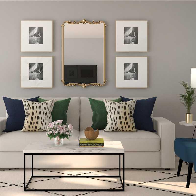 Modern, Glam Living Room Design by Havenly Interior Designer Kamila