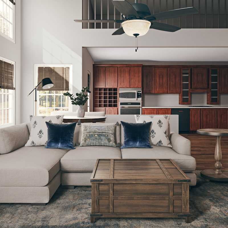 Classic, Farmhouse, Rustic Living Room Design by Havenly Interior Designer Adrian