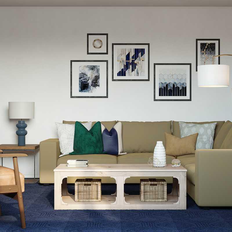 Classic, Transitional, Scandinavian Living Room Design by Havenly Interior Designer Natalie