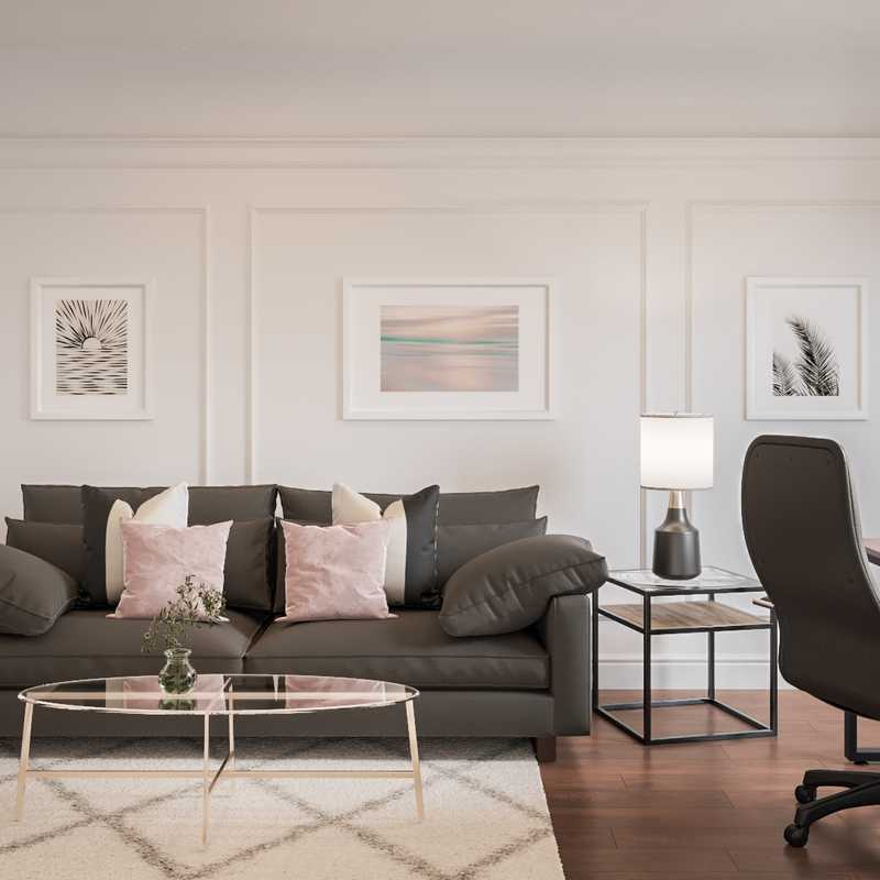 Contemporary, Modern, Glam Living Room Design by Havenly Interior Designer Kylie