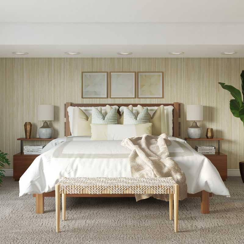 Contemporary, Bohemian, Midcentury Modern Bedroom Design by Havenly Interior Designer Ashley