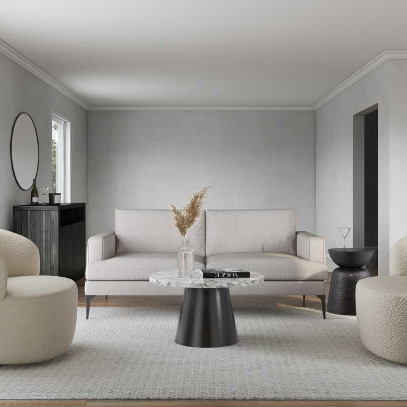 Modern, Glam, Minimal, Scandinavian Living Room Design by Havenly Interior Designer Shalene