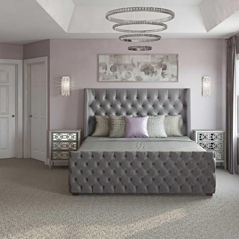 Glam, Transitional Bedroom Design by Havenly Interior Designer Sharon