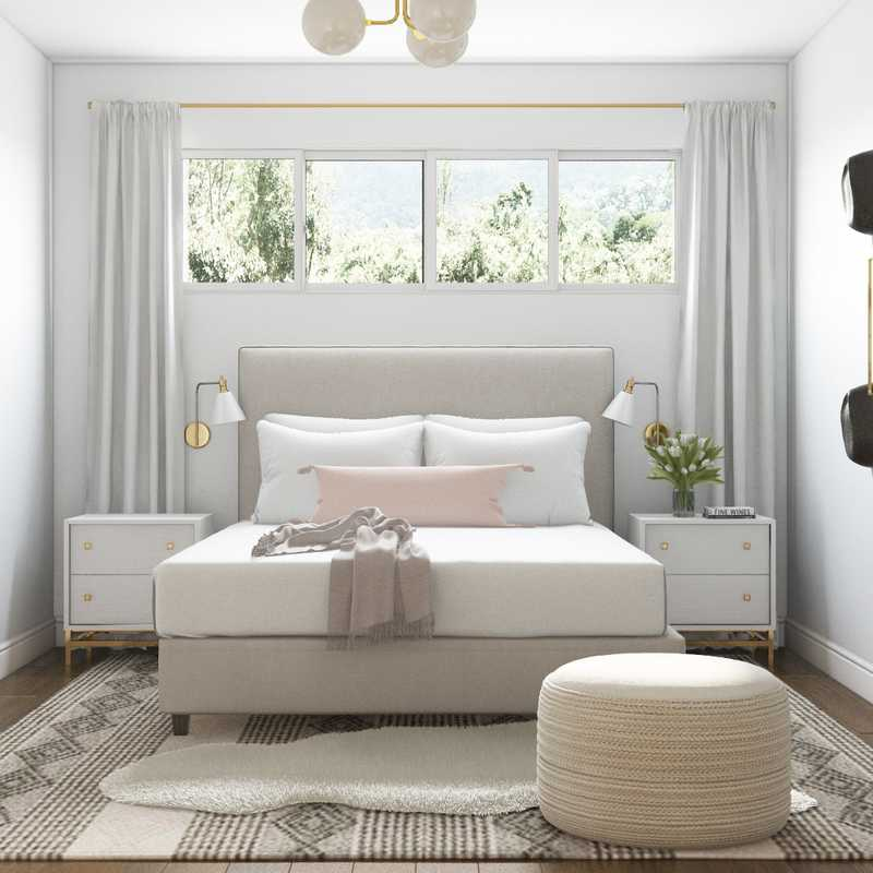 Minimal Bedroom Design by Havenly Interior Designer Kelsey