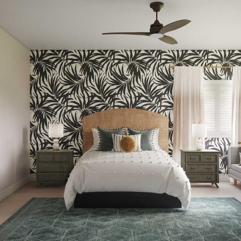Bohemian, Glam Bedroom Design by Havenly Interior Designer Tammy