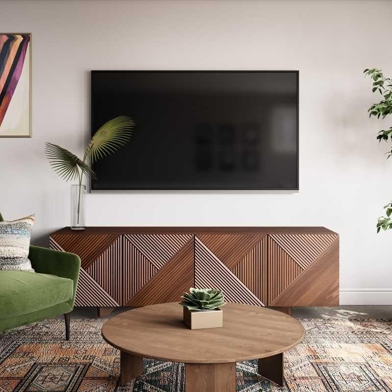 Eclectic, Bohemian, Midcentury Modern Living Room Design by Havenly Interior Designer Sarah