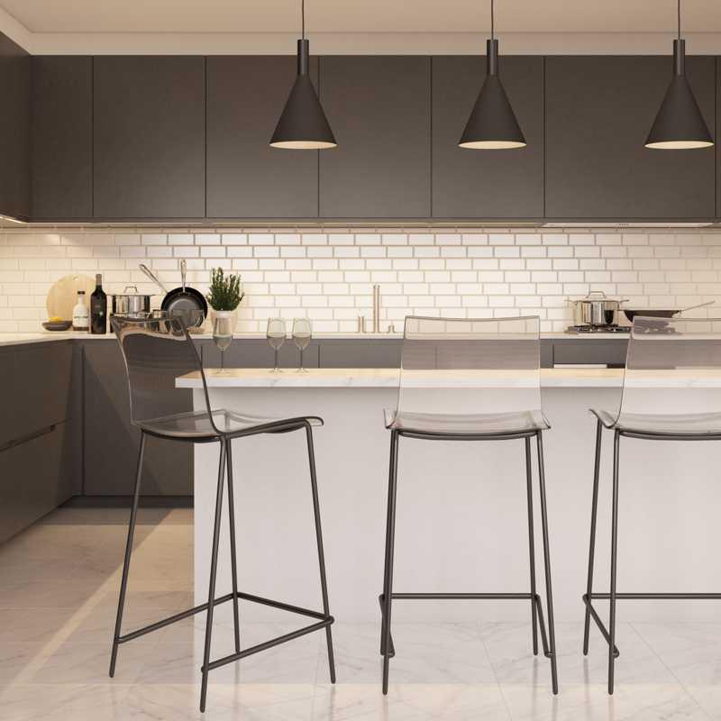 Modern, Midcentury Modern, Minimal, Scandinavian Dining Room Design by Havenly Interior Designer Madison