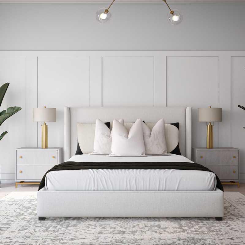 Modern, Classic, Glam Bedroom Design by Havenly Interior Designer Danielle