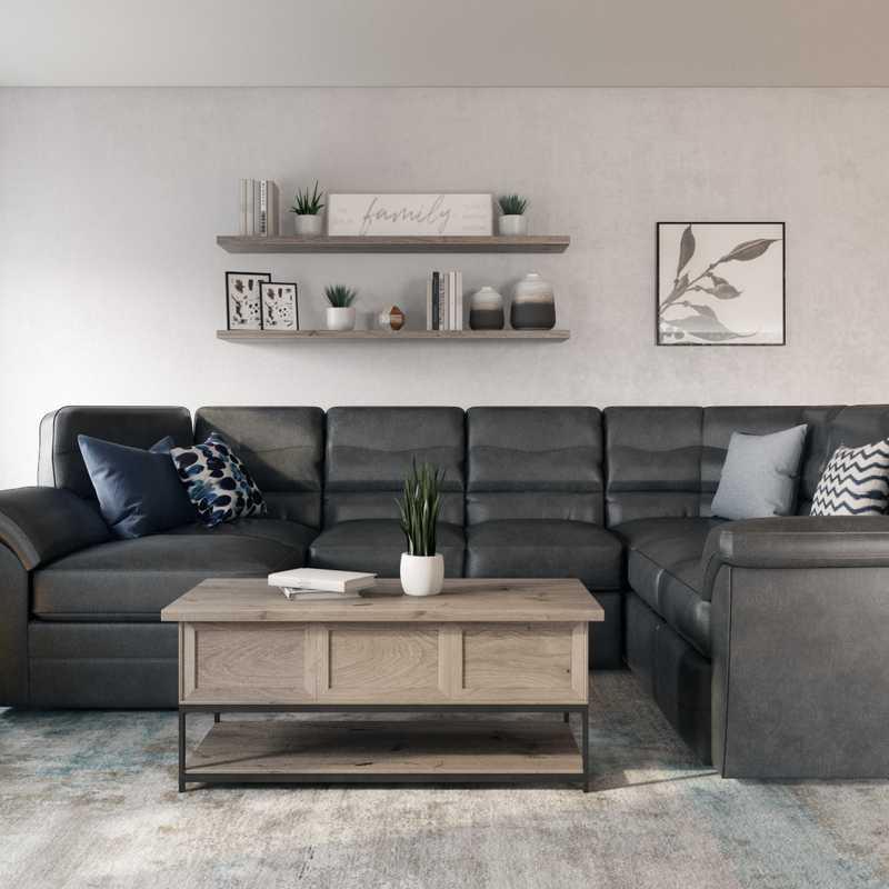Modern Living Room Design by Havenly Interior Designer Lauren