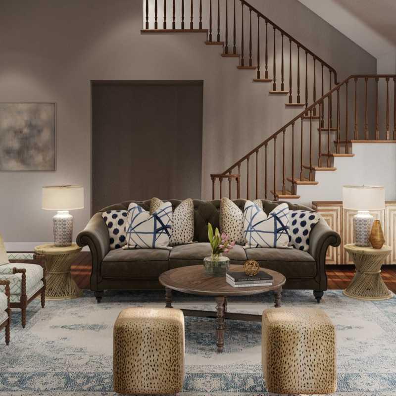 Classic Living Room Design by Havenly Interior Designer Rachel