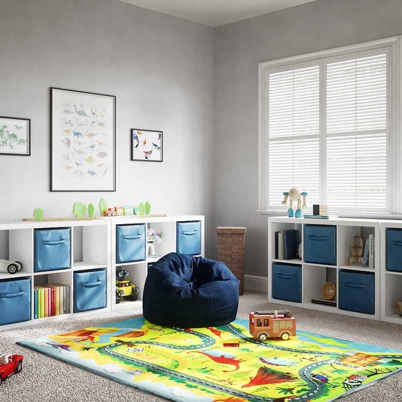 Traditional, Farmhouse Living Room Design by Havenly Interior Designer Austin