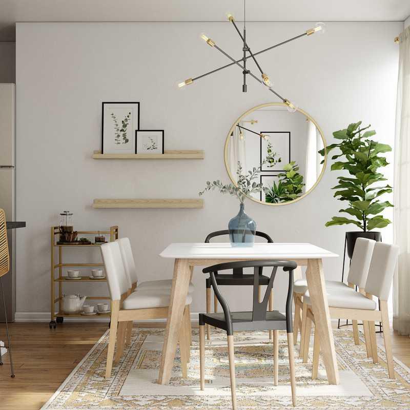 Bohemian, Midcentury Modern Living Room Design by Havenly Interior Designer Ghianella