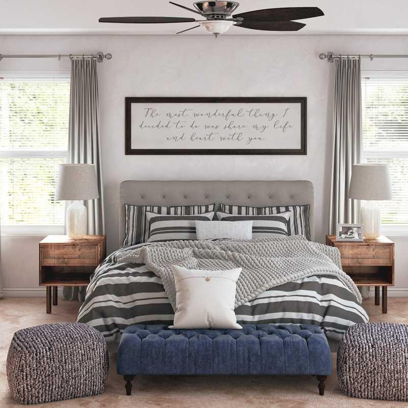 Classic, Farmhouse Bedroom Design by Havenly Interior Designer Austin