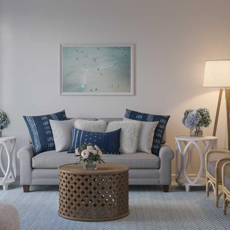 Contemporary, Classic, Eclectic, Coastal Living Room Design by Havenly Interior Designer Kelcy