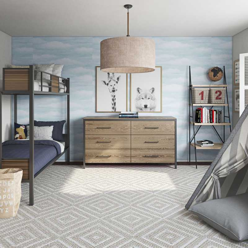 Industrial, Vintage Bedroom Design by Havenly Interior Designer Leah