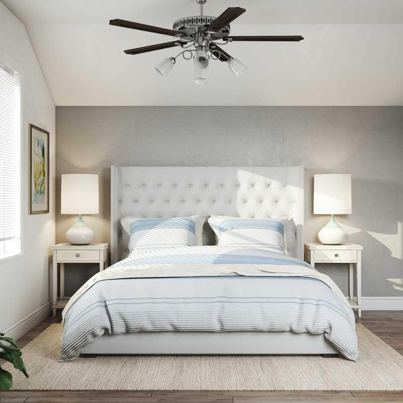 Bohemian, Coastal, Farmhouse Bedroom Design by Havenly Interior Designer Austin