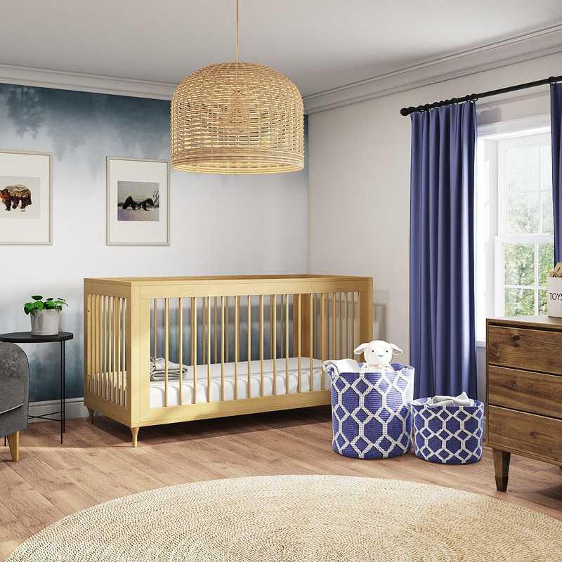 Glam, Global Nursery Design by Havenly Interior Designer Laura