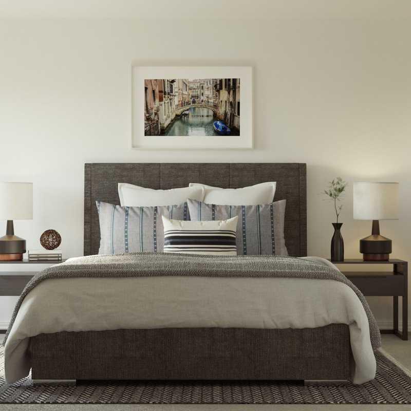 Modern, Industrial, Midcentury Modern Bedroom Design by Havenly Interior Designer Laura