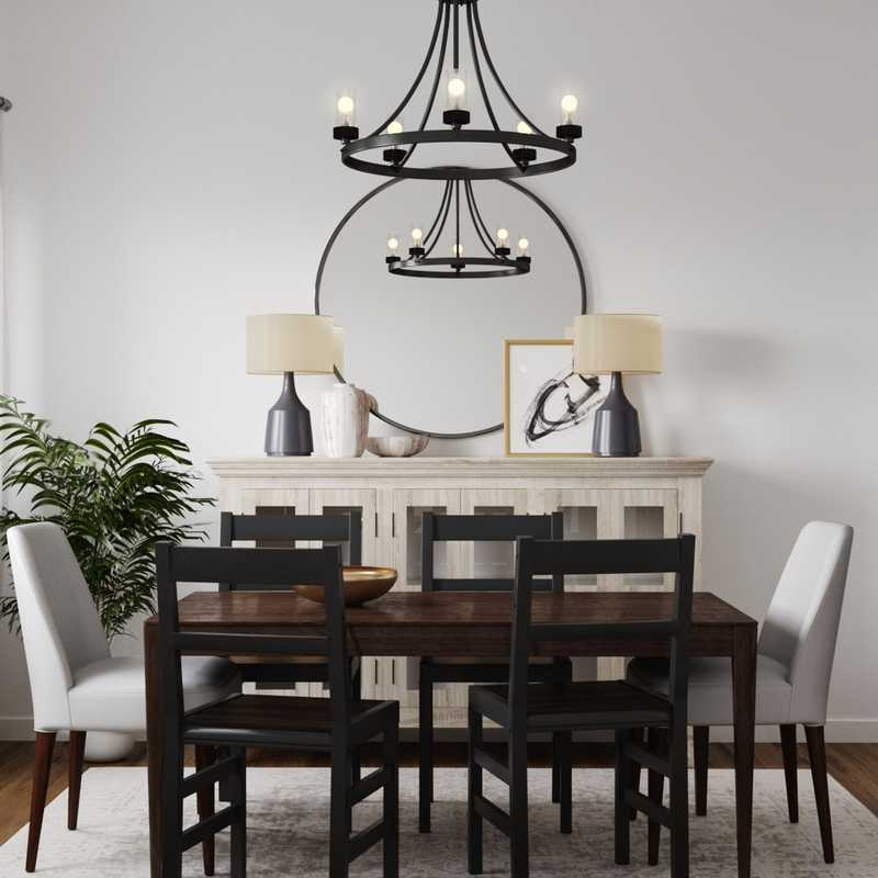 Modern, Bohemian, Transitional Dining Room Design by Havenly Interior Designer Namita
