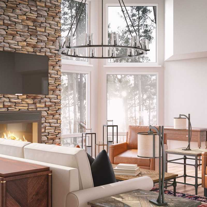 Contemporary, Traditional, Farmhouse, Rustic, Southwest Inspired Living Room Design by Havenly Interior Designer Mariela