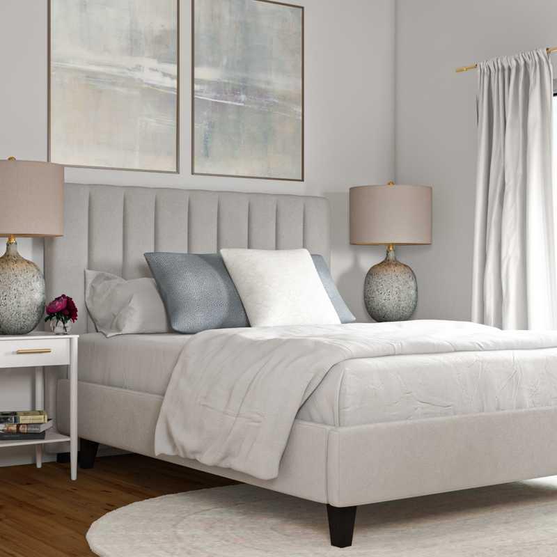 Classic, Coastal, Glam, Farmhouse Bedroom Design by Havenly Interior Designer Elyse
