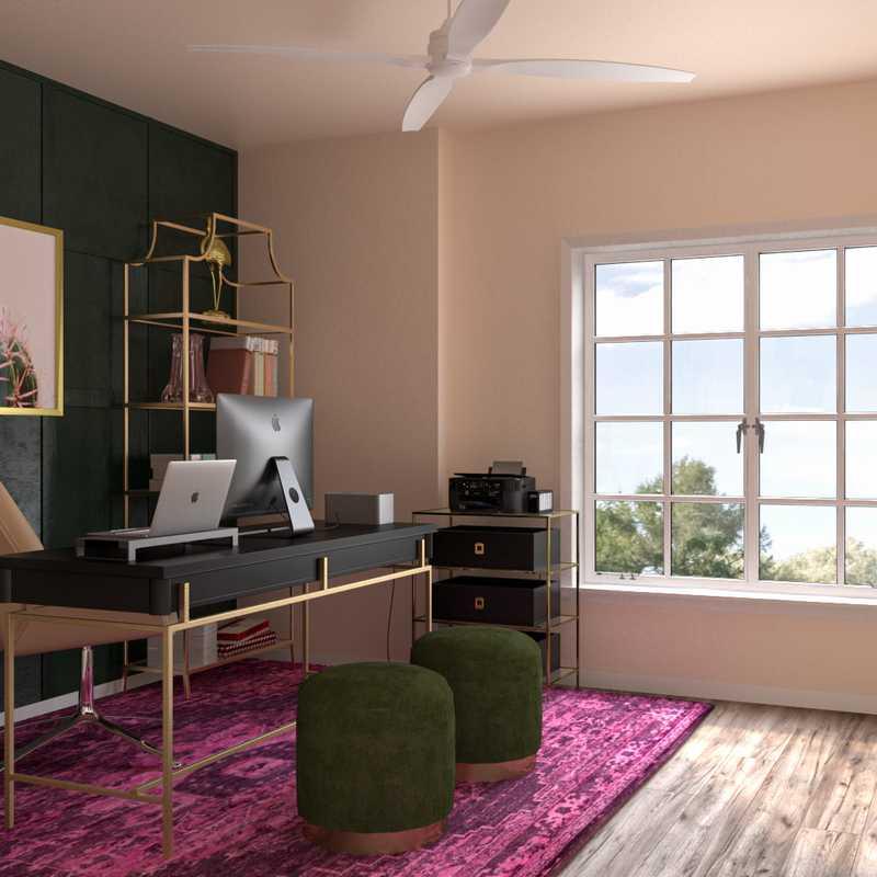 Glam Office Design by Havenly Interior Designer Abi