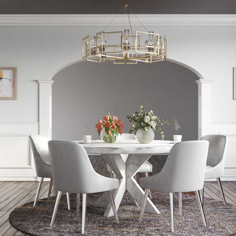 Contemporary, Modern Dining Room Design by Havenly Interior Designer Stacy