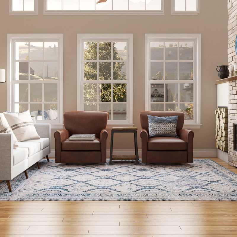 Farmhouse, Rustic Living Room Design by Havenly Interior Designer Sarah