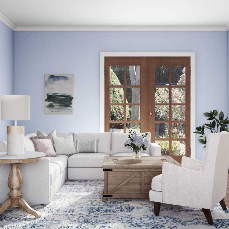 Classic, Coastal Living Room Design by Havenly Interior Designer Mariela